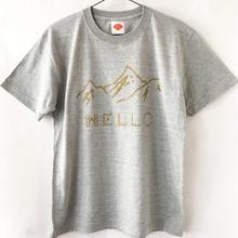 HELLO!山だよ Tシャツ / ミックスグレー(GD)