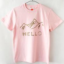 HELLO!山だよ Tシャツ / ライトピンク (GD)