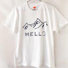 HELLO!山だよ Tシャツ / 白 (NV)