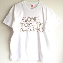 GOOD MORNING nemuiyo Tシャツ / 白(GD)