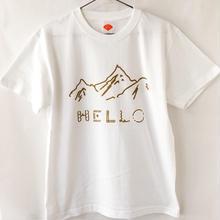 HELLO!山だよ Tシャツ / 白 (GD)