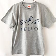 HELLO!山だよ Tシャツ / ミックスグレー (NV)