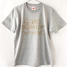 GOOD MORNING nemuiyo Tシャツ / ミックスグレー (GD)