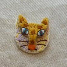 立体顔ネコ ワッペン