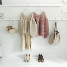 Maiami  mohair   pleats  knit  pullover