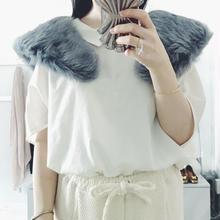 used  fake fur tippet