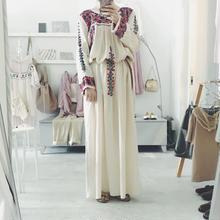 used 刺繍マキシワンピース