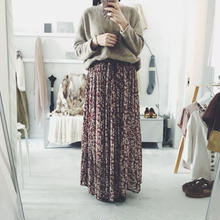 used floral maxi skirt