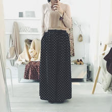 used dot wide flare pants