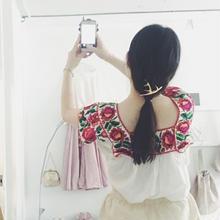 used 刺繍 blouse