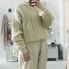 used écru aran knit