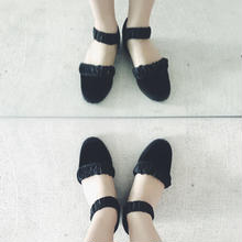 F- TROUPE  velvet strap shoes