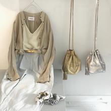 master & co.  goat leather shoulder bag