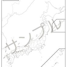 紙の日本地図【A1サイズ( 594 × 841 )白地図】