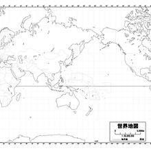 紙の世界地図【A1サイズ( 594 × 841 )白地図】