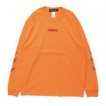 "【World wide Famous】""FAMOUS"" FIRE  ロングスリーブ Tシャツ"