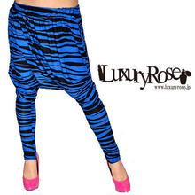 【LuxuryRose】ユニセックスで着用可能!ダンサーさんに人気!ゼブラ柄サルエルパンツ