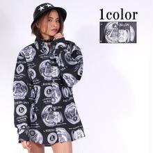 【LuxuryRose】From LA モノトーンデザイン柄シャツ ユニセックスで着られる!