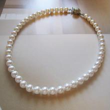 スワロフスキークリスタルパール1連ネックレス<8mm:ホワイト>Bridal* フォーマル*  のコピー