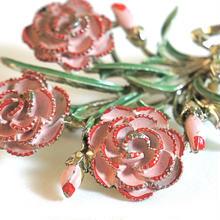 Exquisiteのバラの花束のブローチ(BR0022)