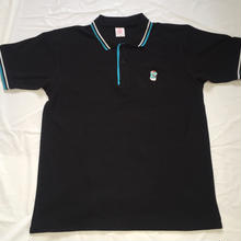 G13ORIGINAL POLO SHIRT BLACK/TURQUOISEBLUE