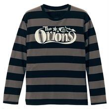 The ORIONS  / O-LOGOボーダー Tee 長袖 A(チャコール×ブラック)