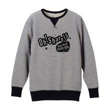 Oh!Sharels  /  ヴィンテージ・スウェット(ヘザーグレー×ブラック)