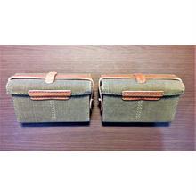 【複製品】日本軍キャンバス製弾薬盒2個セット