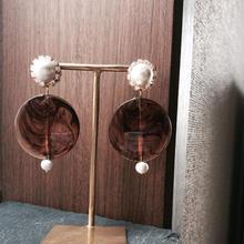 【Cotton pearl flowers】ピアス&イヤリング