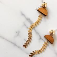【Feather chain】ピアス