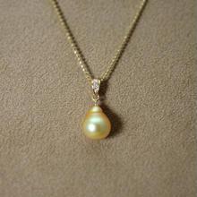 GoldenPearl PendantTop(+Diamond)