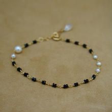BlackSpinal&Pearl Bracelet(b/c)