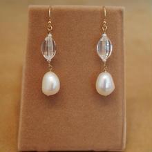 Quartz&F.W.Pearl Earrings