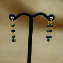 Black Opal Loose Hoop Earrings