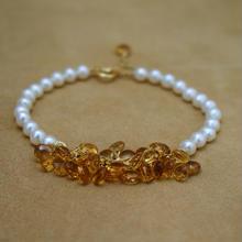 Citrine Prism Bracelet