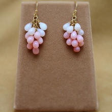 Pink Opal Prism Earrings
