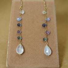 MultiSapphire&MoonStone Earrings