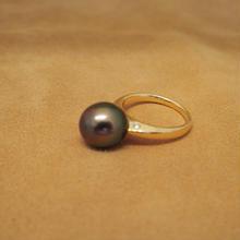 Tahitian Black Pearl Simple Ring