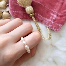 雑誌掲載アイテム✩The Pearl Jewelry line*4Pearl chain ring(4パールチェーンリング)