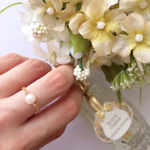 T雑誌掲載アイテム✩he Pearl Jewelry line⋆一粒Chain Ring(あこや真珠5.0〜5.9mm)
