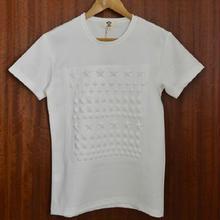 オシャレスタッズ調デザインTシャツホワイト