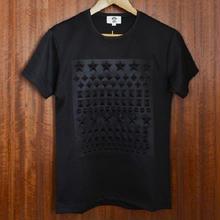 【再入荷!!!★】オシャレスタッズ調デザインTシャツブラック