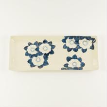 長角皿 花/中川ひかり