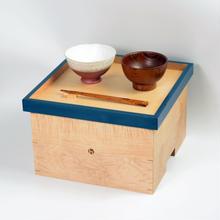 色漆の箱膳 青/hacozen