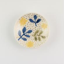小皿 黄色の花と葉っぱ/Craft Studio Karakusa 飯野夏実