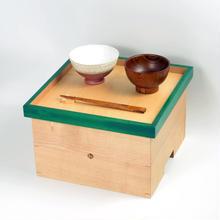 色漆の箱膳 緑/hacozen