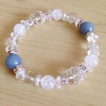 〜天使の石〜エンジェライト水晶ブレスs