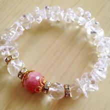 バラ色の人生☆インカローズ、水晶さざれブレス