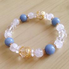 〜天使の石〜エンジェライト水晶ブレスG