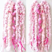 ❁ハッピーヒッピーヘアゴム❁happy pink
